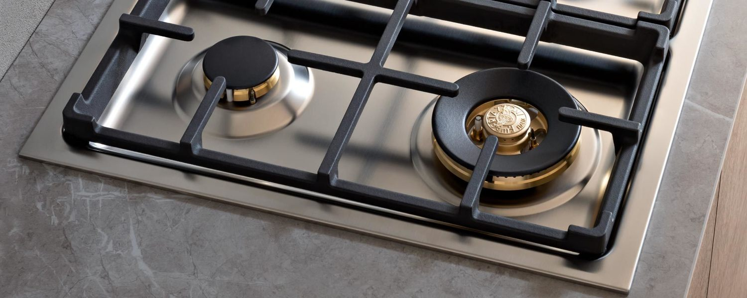 Load image into Gallery viewer, Bertazzoni MAST366QBXT 36 Drop-In Gas Cooktop 6 Brass Burners Stainless Steel