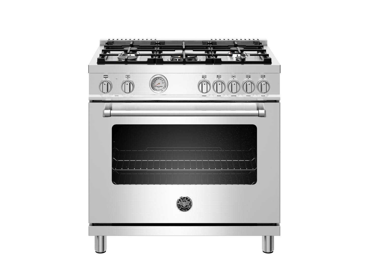 Load image into Gallery viewer, Bertazzoni MAST365DFMXE 36 Inch Dual Fuel Range, 5 Burner, Electric Oven Stainless Steel