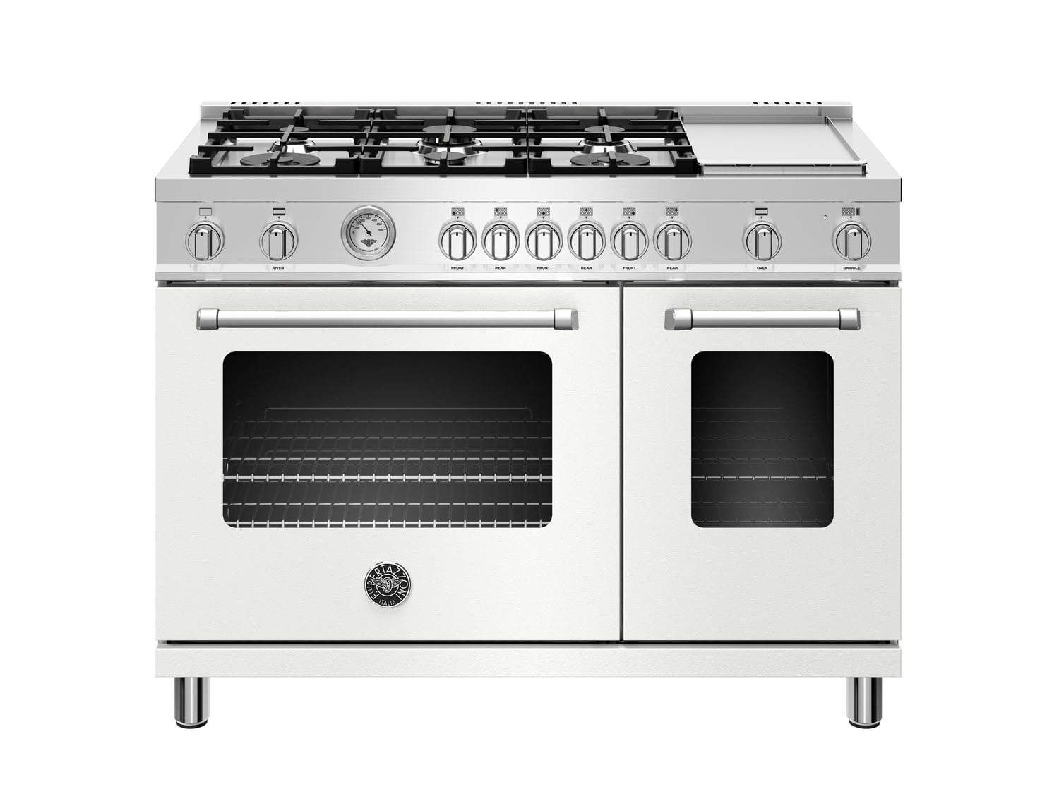 Load image into Gallery viewer, Bertazzoni MAST486GGASBIE 48 Inch All Gas Range, 6 Burner And Griddle Bianco Matt