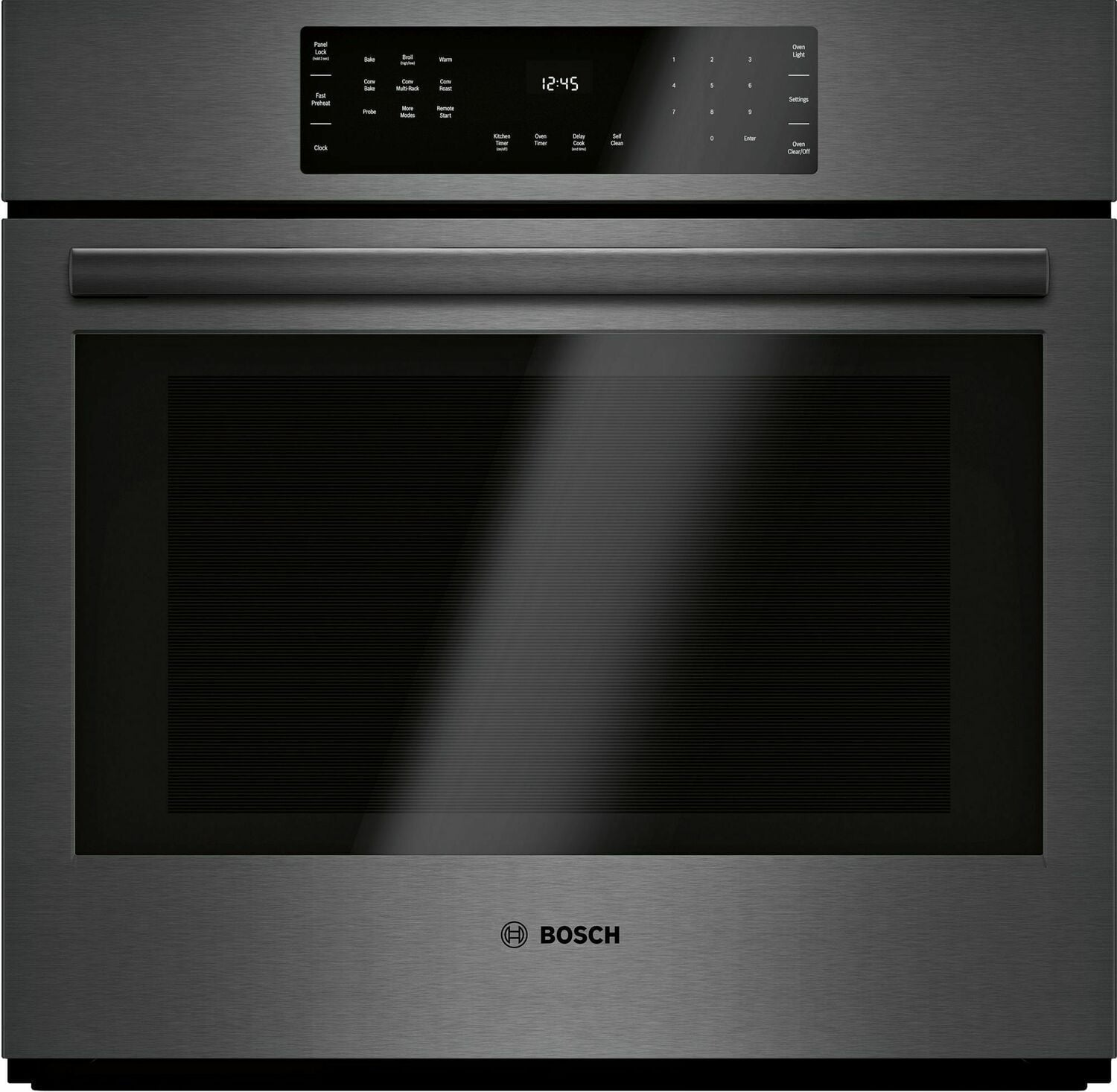 Load image into Gallery viewer, Bosch HBL8443UC 800 Series Single Wall Oven 30'' Black Stainless Steel Hbl8443Uc