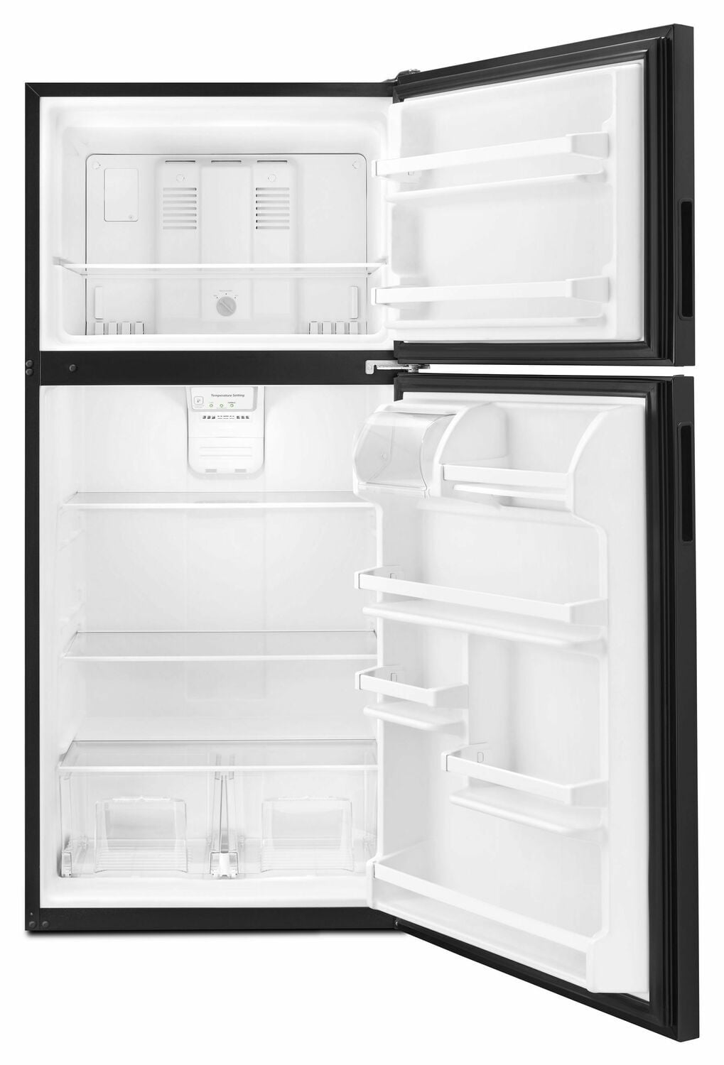 Load image into Gallery viewer, Amana ART318FFDB 30-Inch Amana® Top-Freezer Refrigerator With Glass Shelves - Black