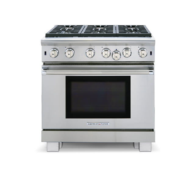 "Load image into Gallery viewer, American Range ARR436GDN 36"" Cuisine Ranges Natural Gas"