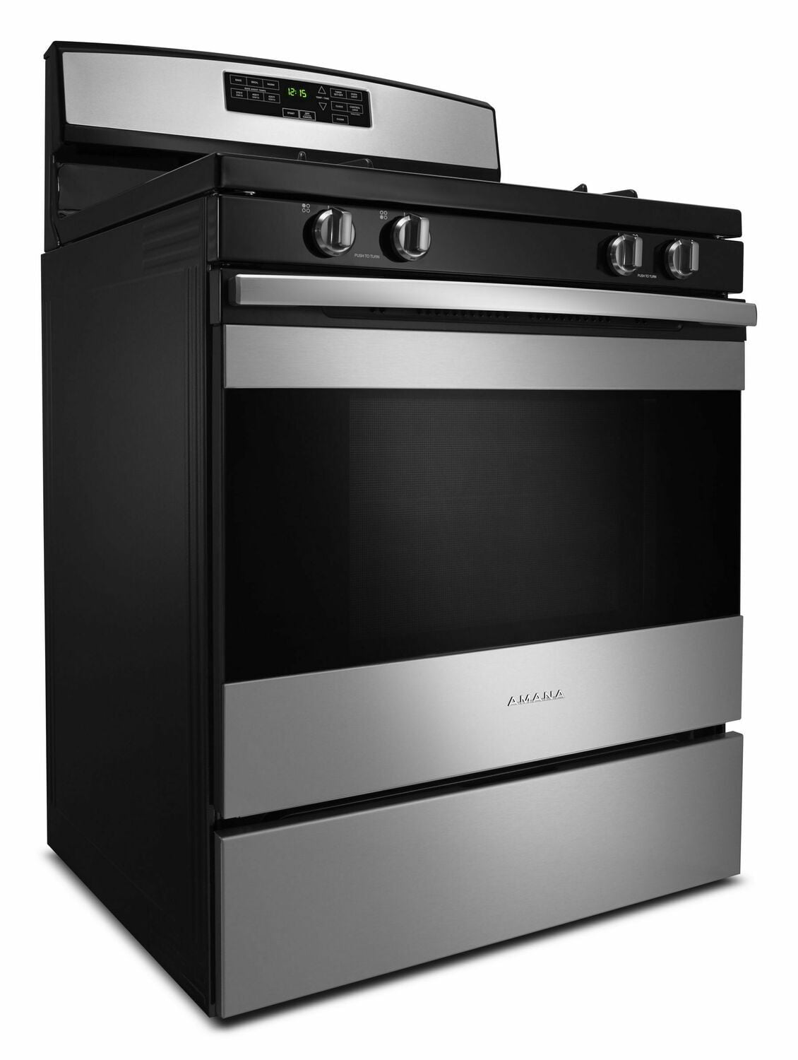 Load image into Gallery viewer, Amana AGR6603SFS 30-Inch Gas Range With Self-Clean Option - Black-On-Stainless