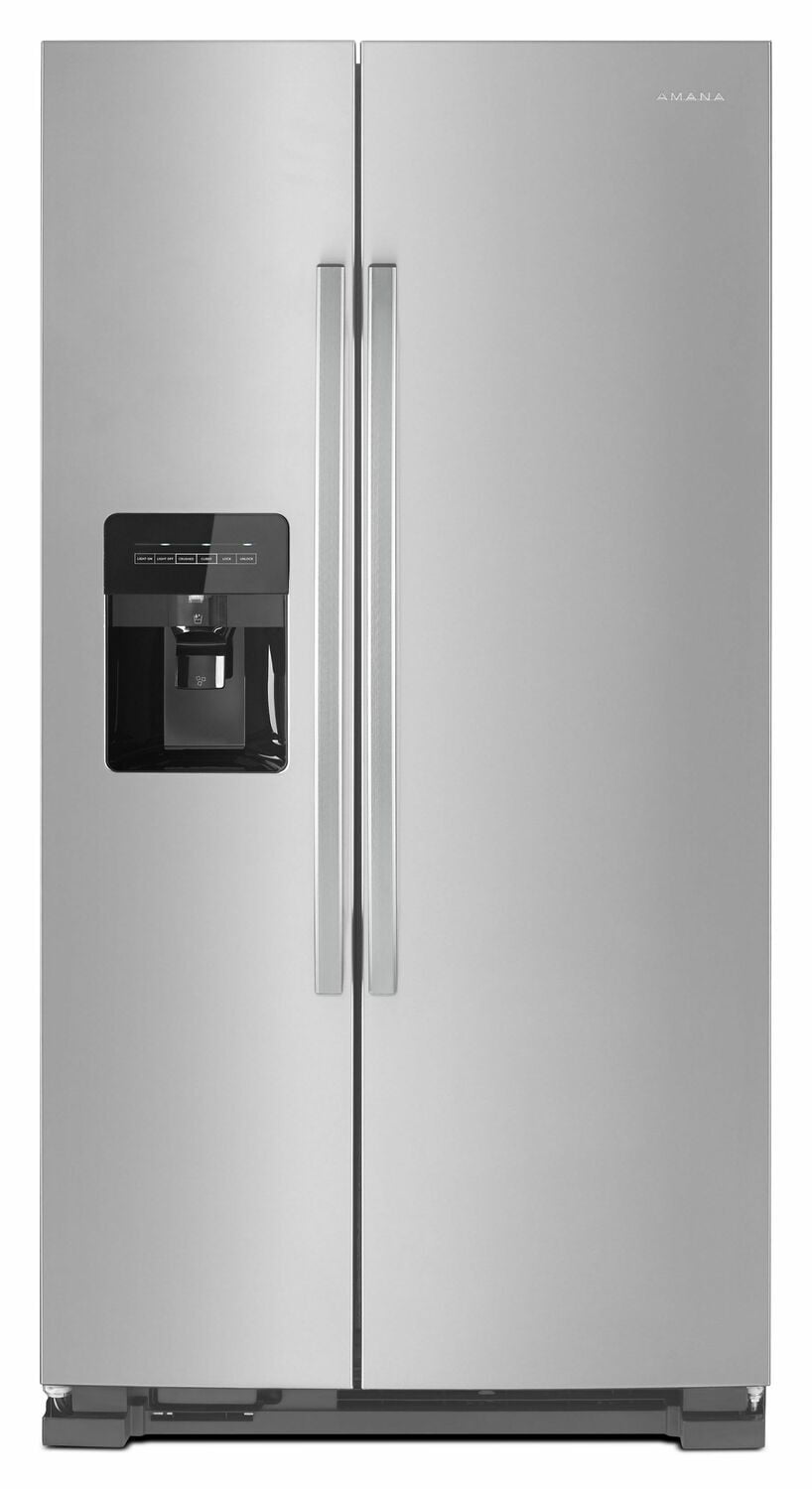 Load image into Gallery viewer, Amana ASI2175GRS 33-Inch Side-By-Side Refrigerator With Dual Pad External Ice And Water Dispenser - Black-On-Stainless
