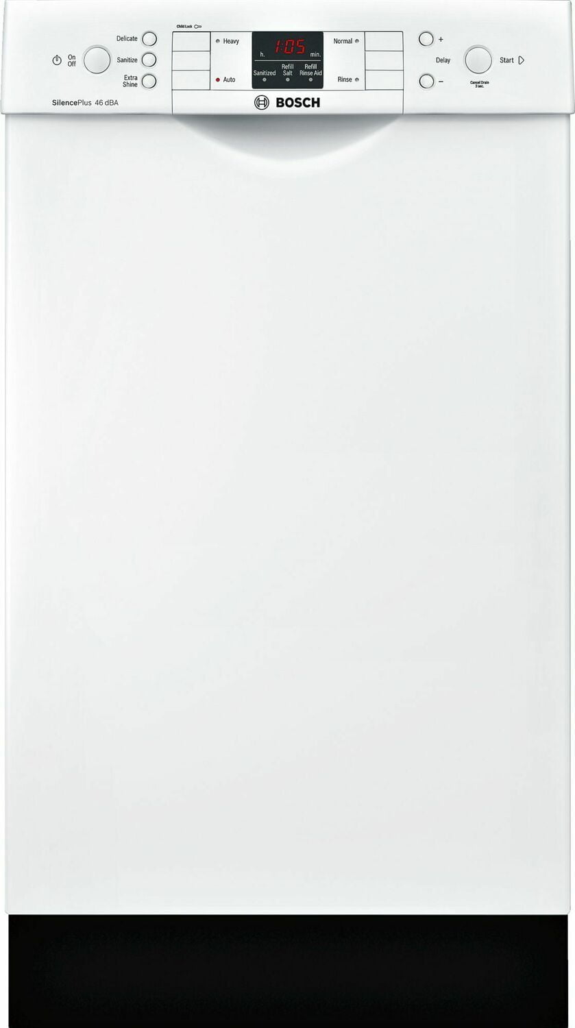 "Load image into Gallery viewer, Bosch SPE53U52UC Ada 18"" 300 Series Recessed Hndl, 4/4 Cycles, 46 Dba, Rckmatic, 9 Pl Stgs - Wh"