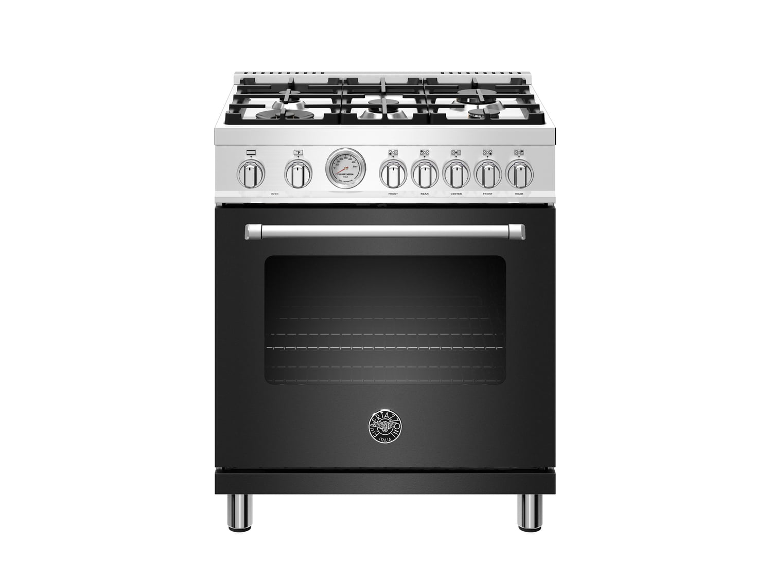 Load image into Gallery viewer, Bertazzoni MAST305DFMNEE 30 Inch Dual Fuel, 5 Burners, Electric Oven Nero Matt
