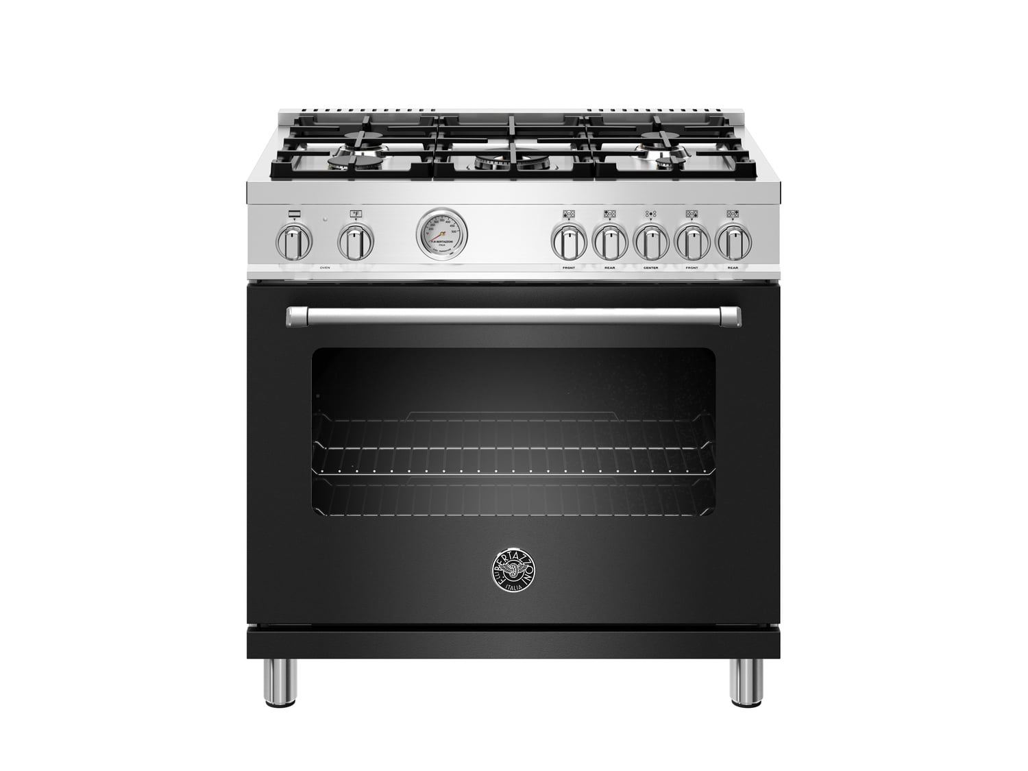 Load image into Gallery viewer, Bertazzoni MAST365DFMNEE 36 Inch Dual Fuel Range, 5 Burner, Electric Oven Nero Matt
