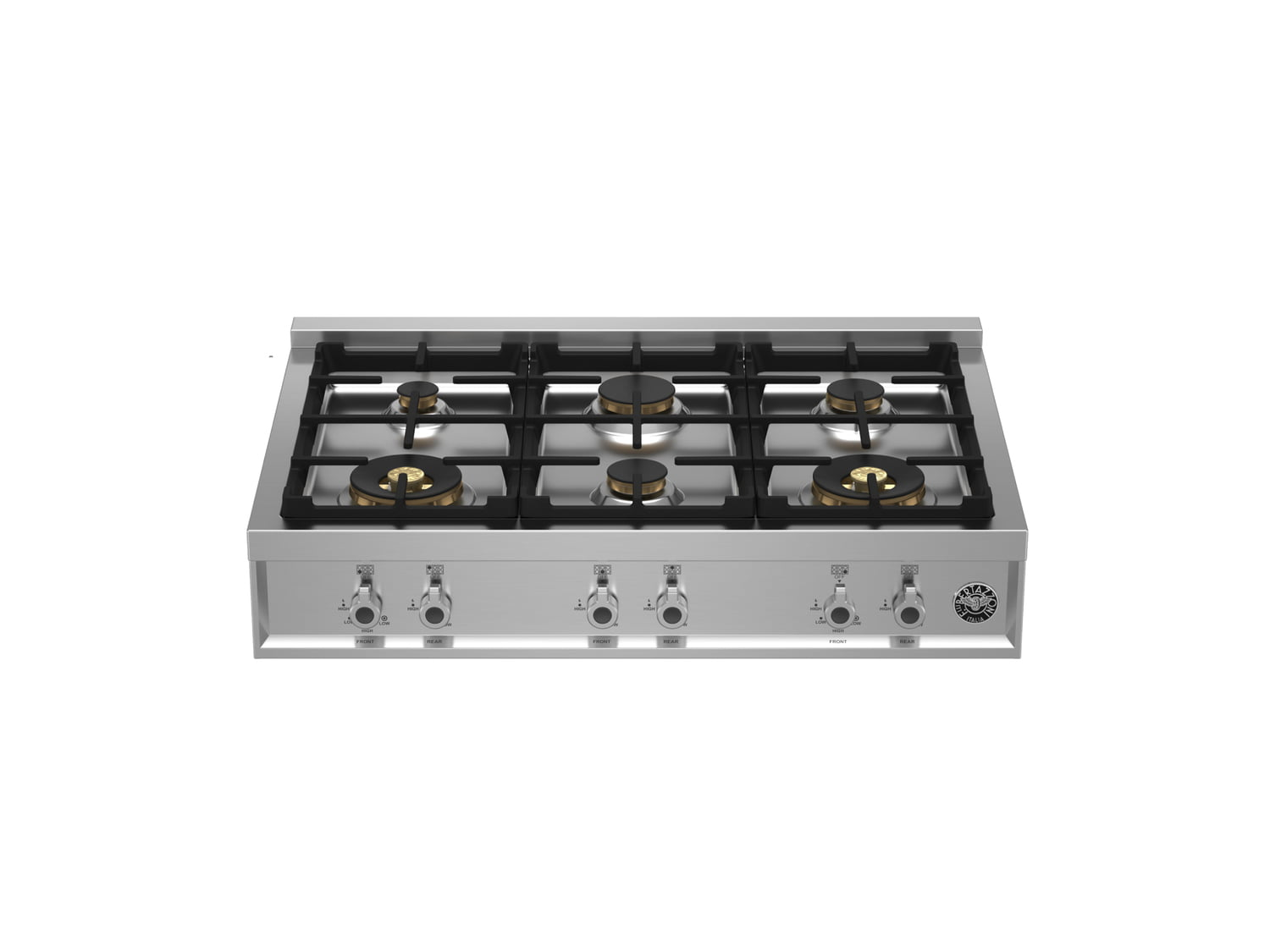 Load image into Gallery viewer, Bertazzoni PROF366RTBXT 36 Gas Rangetop 6 Brass Burners Stainless Steel