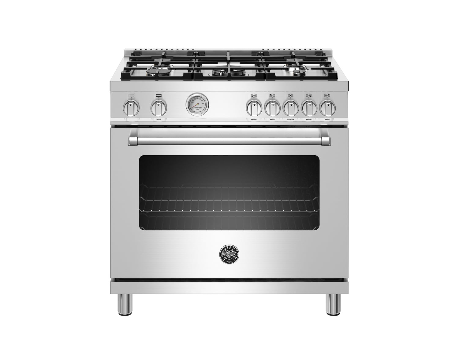 Load image into Gallery viewer, Bertazzoni MAST365GASXE 36 Inch All Gas Range, 5 Burners Stainless Steel