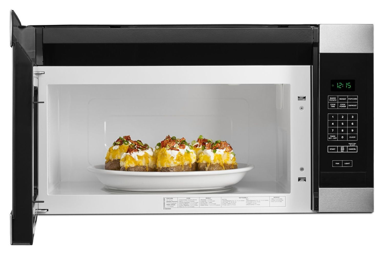 Load image into Gallery viewer, Amana AMV2307PFS 1.6 Cu. Ft. Over-The-Range Microwave With Add 0:30 Seconds Stainless Steel