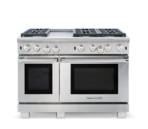"Load image into Gallery viewer, American Range ARR448GDGRN 48"" Cuisine Ranges Natural Gas"
