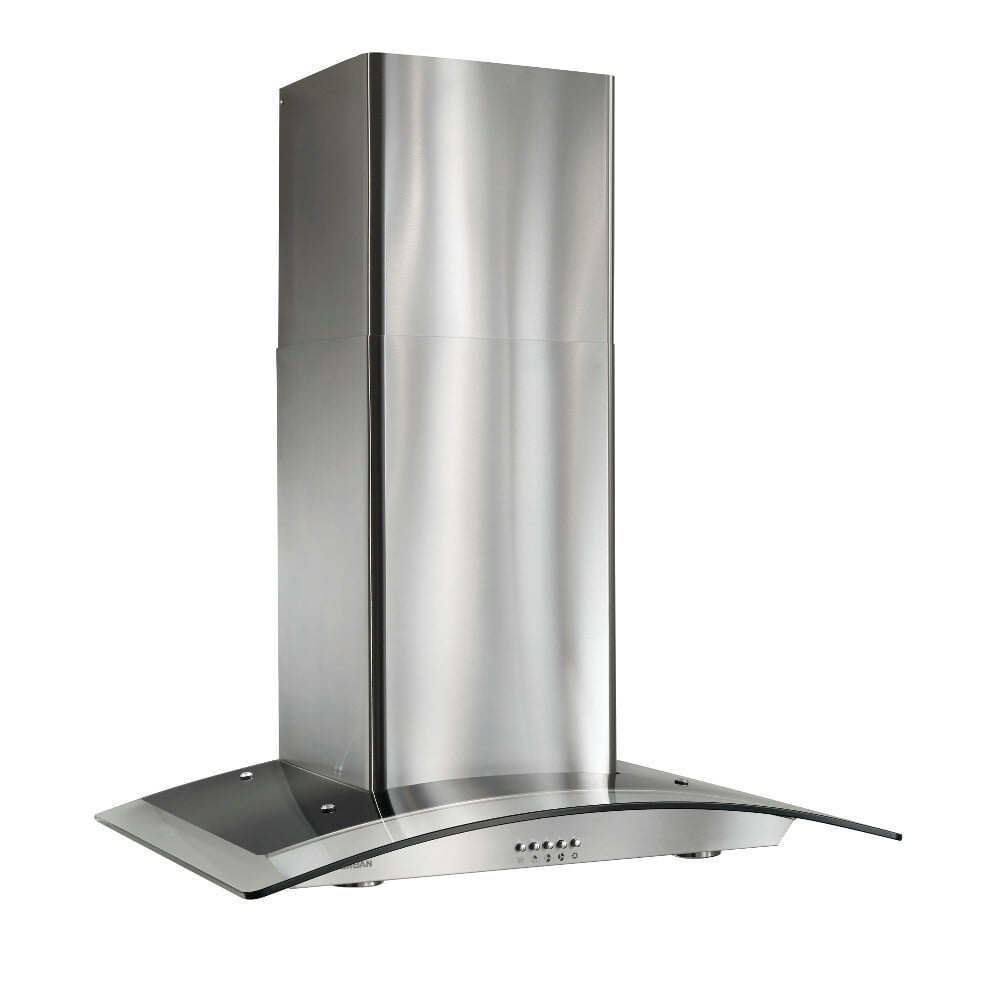 Load image into Gallery viewer, Broan B5636SS Broan® 36-Inch Arched Glass Wall-Mount Chimney Range Hood, 450 Cfm, Stainless Steel