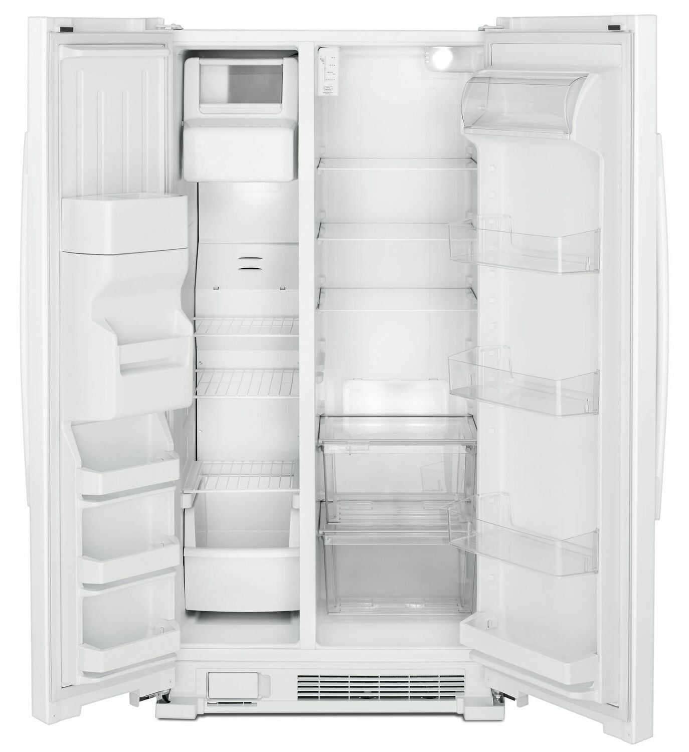 Load image into Gallery viewer, Amana ASI2175GRW 33-Inch Side-By-Side Refrigerator With Dual Pad External Ice And Water Dispenser - White
