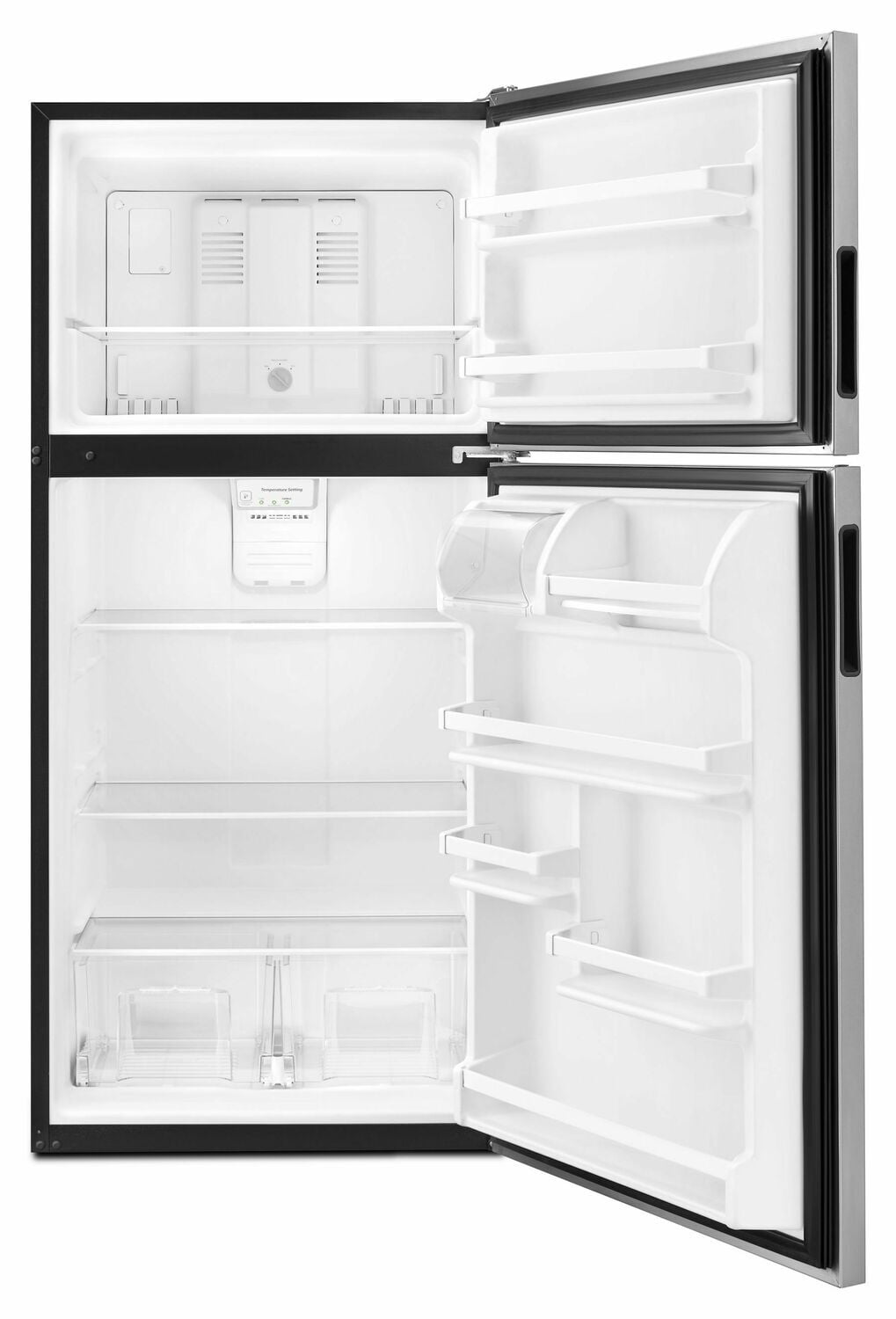 Load image into Gallery viewer, Amana ART318FFDS 30-Inch Amana® Top-Freezer Refrigerator With Glass Shelves - Stainless Steel