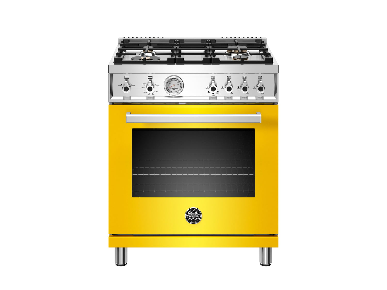Load image into Gallery viewer, Bertazzoni PROF304GASGIT 30 Inch All Gas Range, 4 Brass Burner Giallo