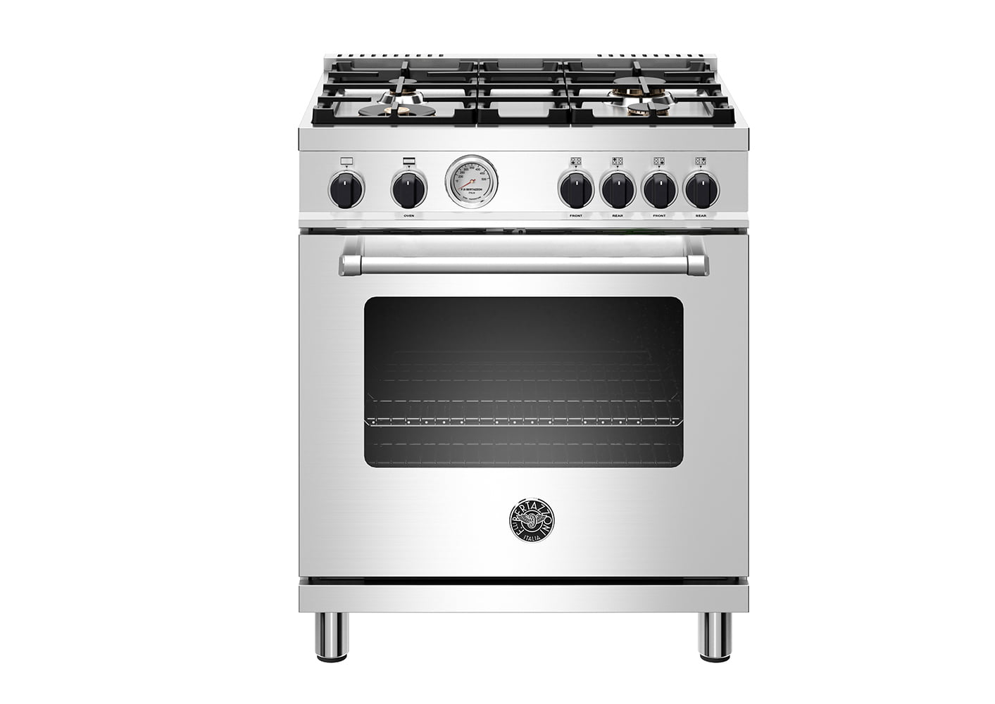 "Load image into Gallery viewer, Bertazzoni MAST304GASXVLP 30"" Master Series Range - Gas Oven - 4 Aluminum Burners - Black Knobs - Lp Version"