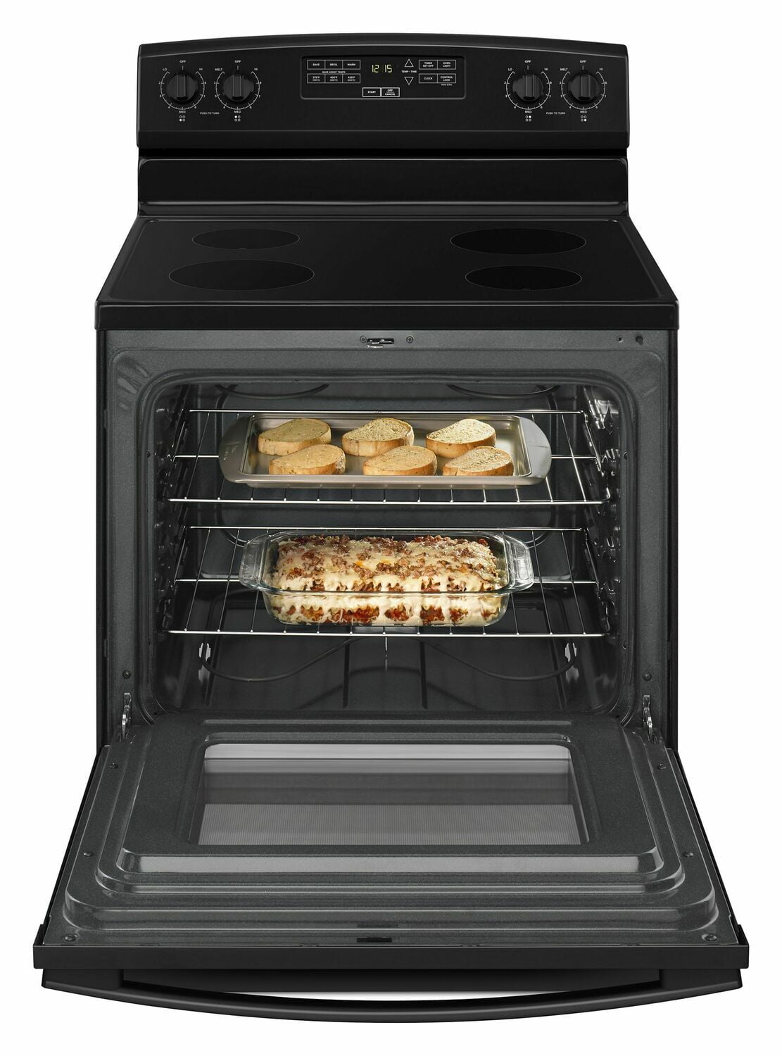 Load image into Gallery viewer, Amana AER6303MFB 30-Inch Electric Range With Extra-Large Oven Window - Black
