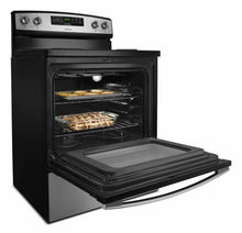 Load image into Gallery viewer, Amana ACR4303MFS 30-Inch Electric Range With Bake Assist Temps - Black-On-Stainless