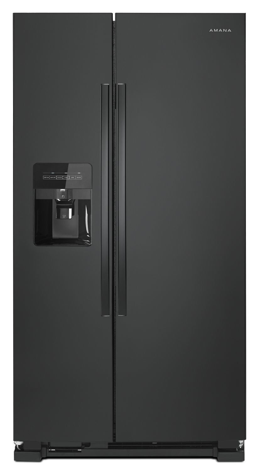 Load image into Gallery viewer, Amana ASI2575GRB 36-Inch Side-By-Side Refrigerator With Dual Pad External Ice And Water Dispenser Black