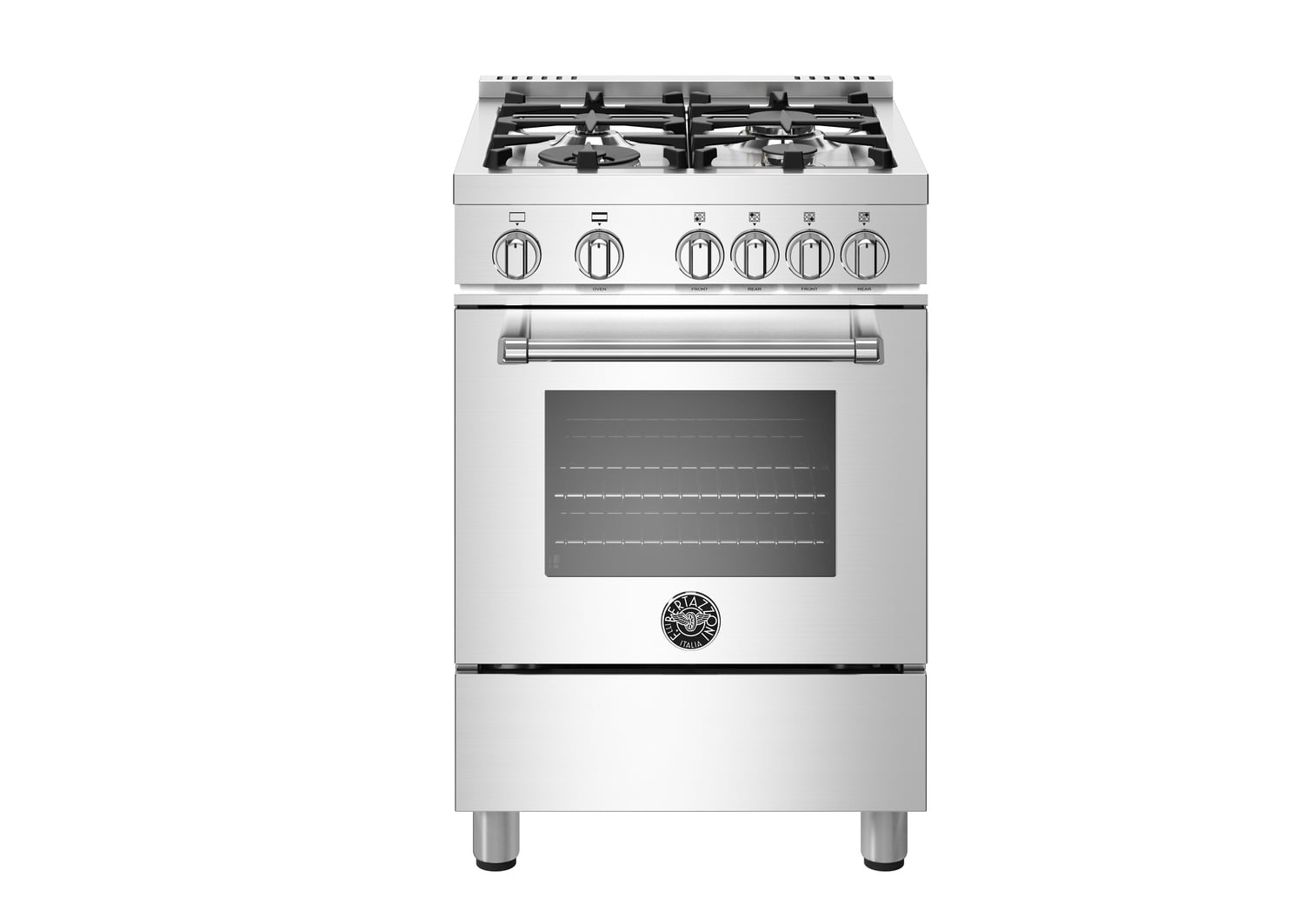 "Load image into Gallery viewer, Bertazzoni MAST244GASXELP  24"" Master Series Range - Gas Oven - 4 Aluminum Burners - Lp"