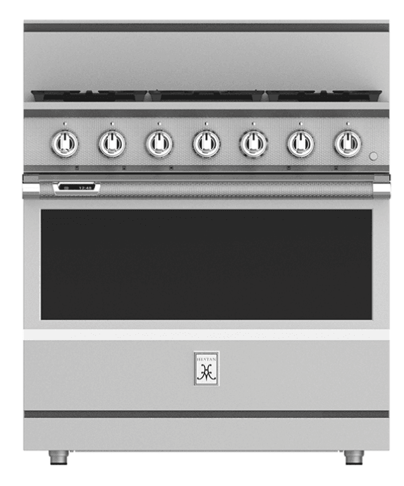 "Load image into Gallery viewer, Hestan KRD364GDLP 36"" 4-Burner Dual Fuel Range With 12"" Griddle - Liquid Propane - Stainless Steel / Steeletto"