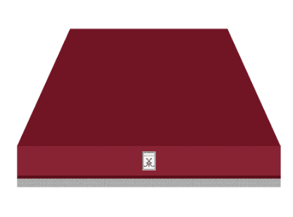 "Load image into Gallery viewer, Hestan KVC36BG 36"" Chimney Hood - Burgundy / Tin Roof"