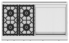 "Load image into Gallery viewer, Hestan KRT484GDLPGR 48"" 4-Burner Rangetop With 24"" Griddle - Liquid Propane - Green / Grove"