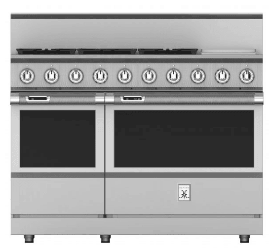 "Load image into Gallery viewer, Hestan KRD485GDLP 48"" 5-Burner Dual Fuel Range With 12"" Griddle - Liquid Propane - Stainless Steel / Steeletto"