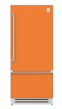 "Load image into Gallery viewer, Hestan KRBR36OR 36"" Bottom Mount, Bottom Compressor Refrigerator - Right Hinge - Orange / Citra"