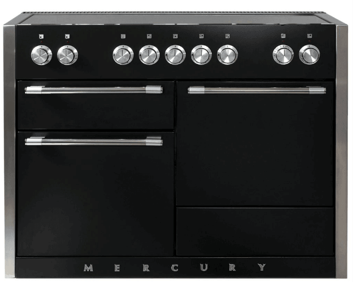 Load image into Gallery viewer, Aga AMC48INBLK 48In Mercury Electric Induction Range - Glossy Black