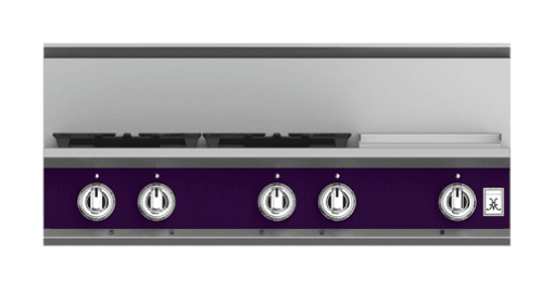 "Load image into Gallery viewer, Hestan KRT364GDLPPP 36"" 4-Burner Rangetop With 12"" Griddle - Liquid Propane - Purple / Lush"