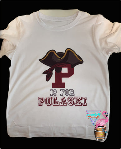 """P is for Pulaski"" Graphic Tee"