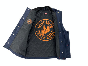 Oversized Fit Embroidered Cardinal Heavy Duty Work Vest