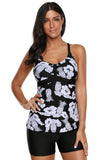 Floral and Pineapple Print Tankini Swimwear - Tankinis - Sunny Angela