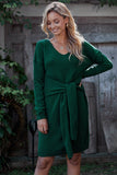 Green Don't Let Me Go Tie Sweater Dress - Dresses - Sunny Angela