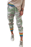 Rainbow Stripe Camo Casual Pants - XL - & Culotte - Sunny Angela