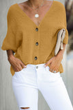 Yellow Soak It Up Cotton Button Down Blouse - Blouses & Shirts - Sunny Angela