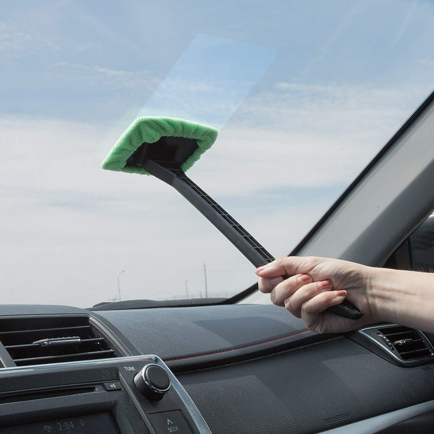 2 Pack - Microfiber Windshield Cleaner