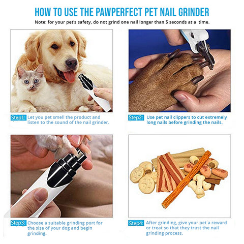 How to use the PawPerfect Quiet Dog Nail Grinder