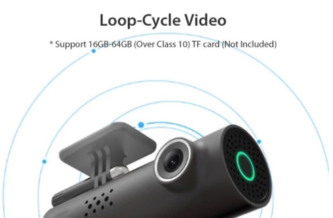 CarSmart Night Vision Dash Cam - Picture of Loop Saving Videos