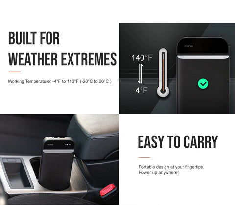 Built for Weather Extremes and Portable (CarSmart Ultra-Portable Jump Starter | Car Battery Jump Starter)