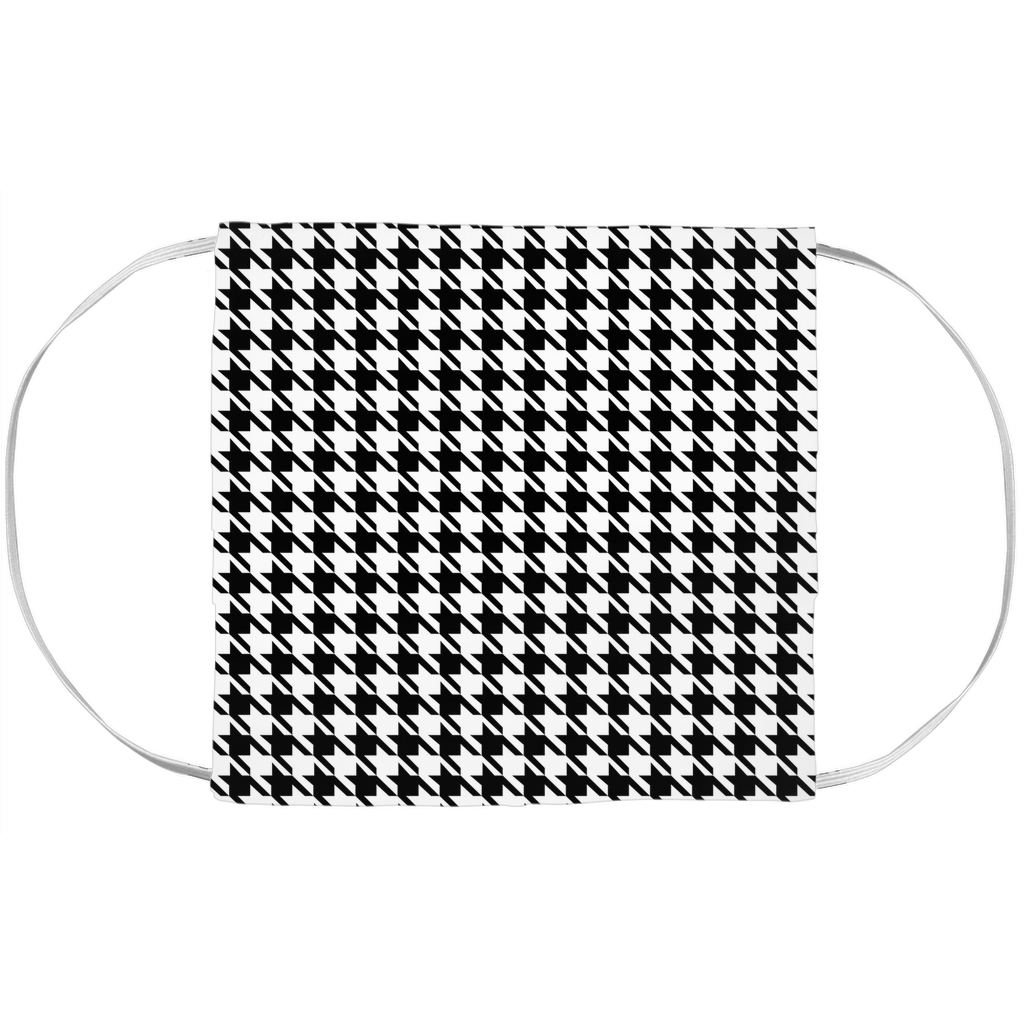 Face Mask Cover - Houndstooth Pattern (7x3.5 Inch)