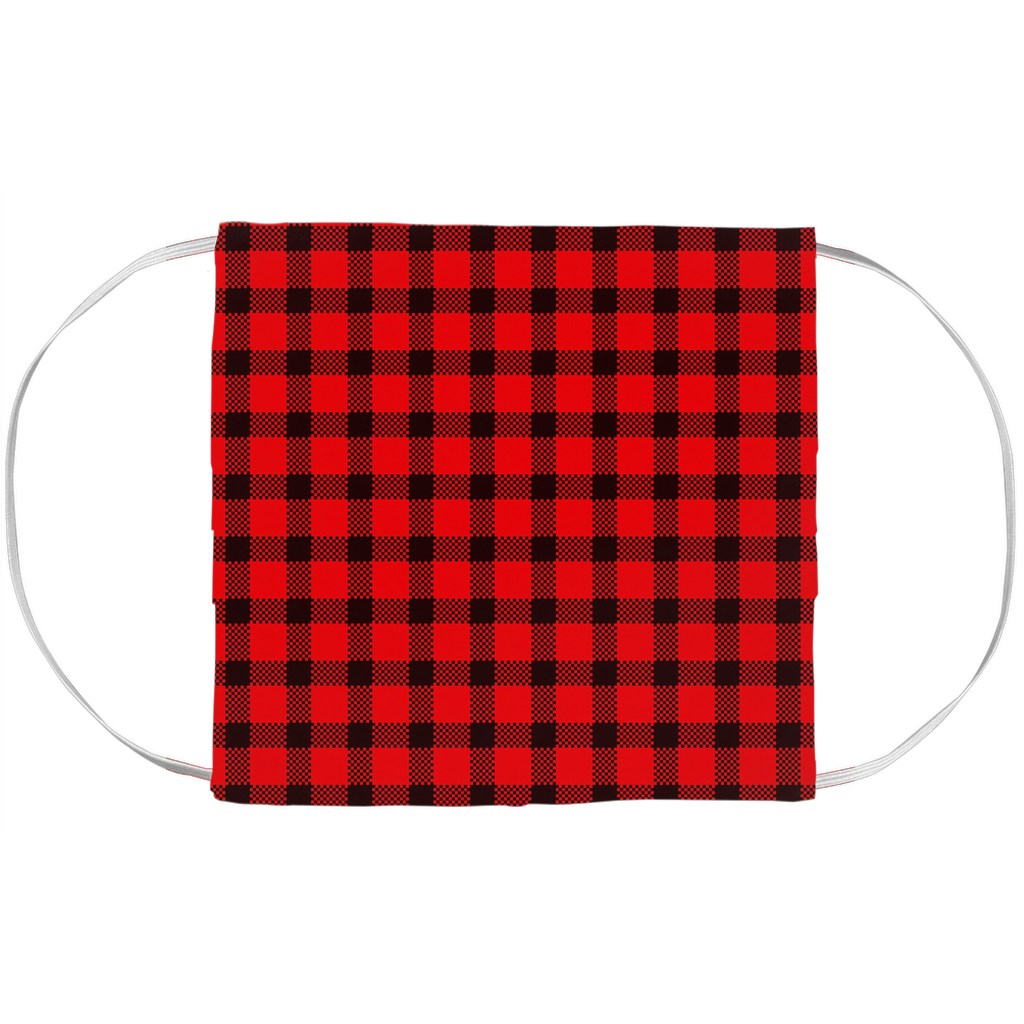 Face Mask Cover - Buffalo Plaid (7x3.5 inch)
