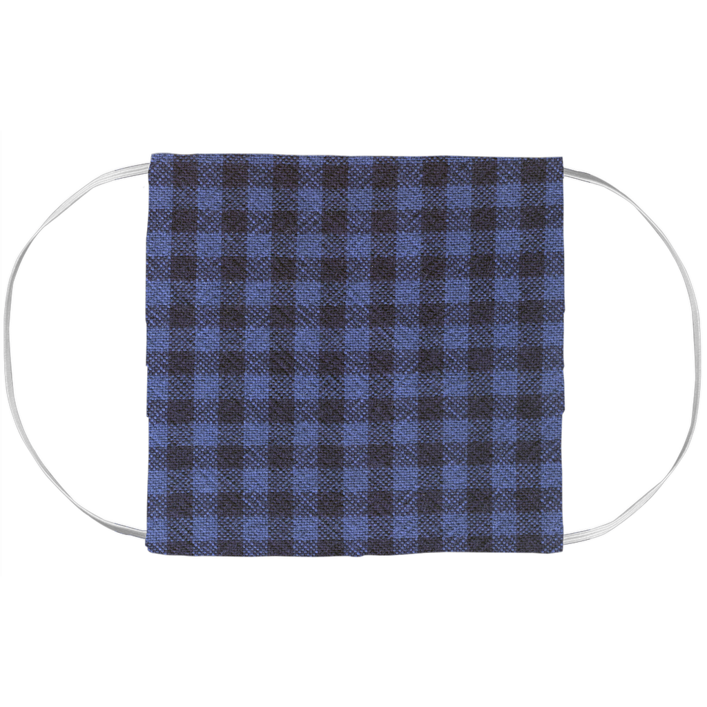 Face Mask Cover - Blue Buffalo Plaid Pattern (7x3.5 Inch)