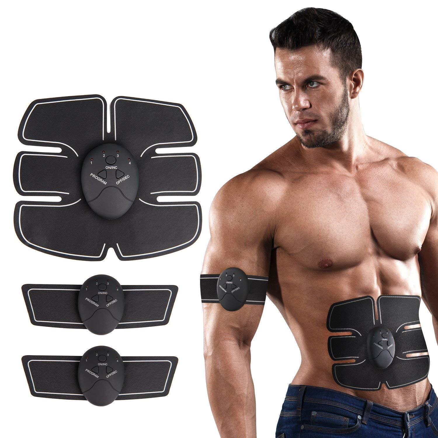 FitStart EMS Muscle Exerciser | Abdominal, Arm and Leg Muscle Trainers