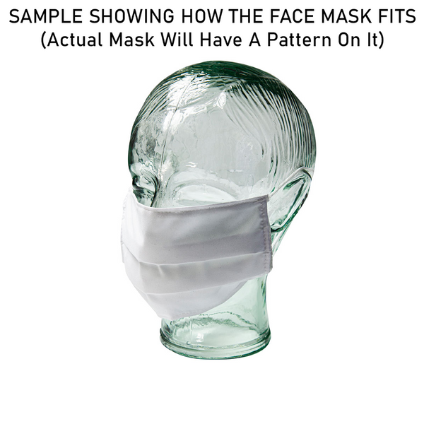 Face Mask Cover - Checked Pattern (7x3.5 Inch)