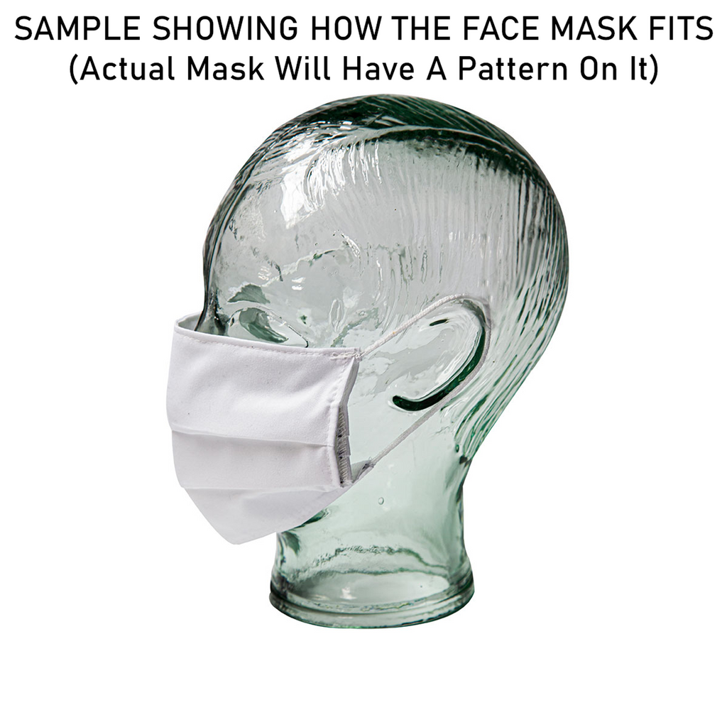 Face Mask Cover - Heart Pattern (7x3.5 inch)