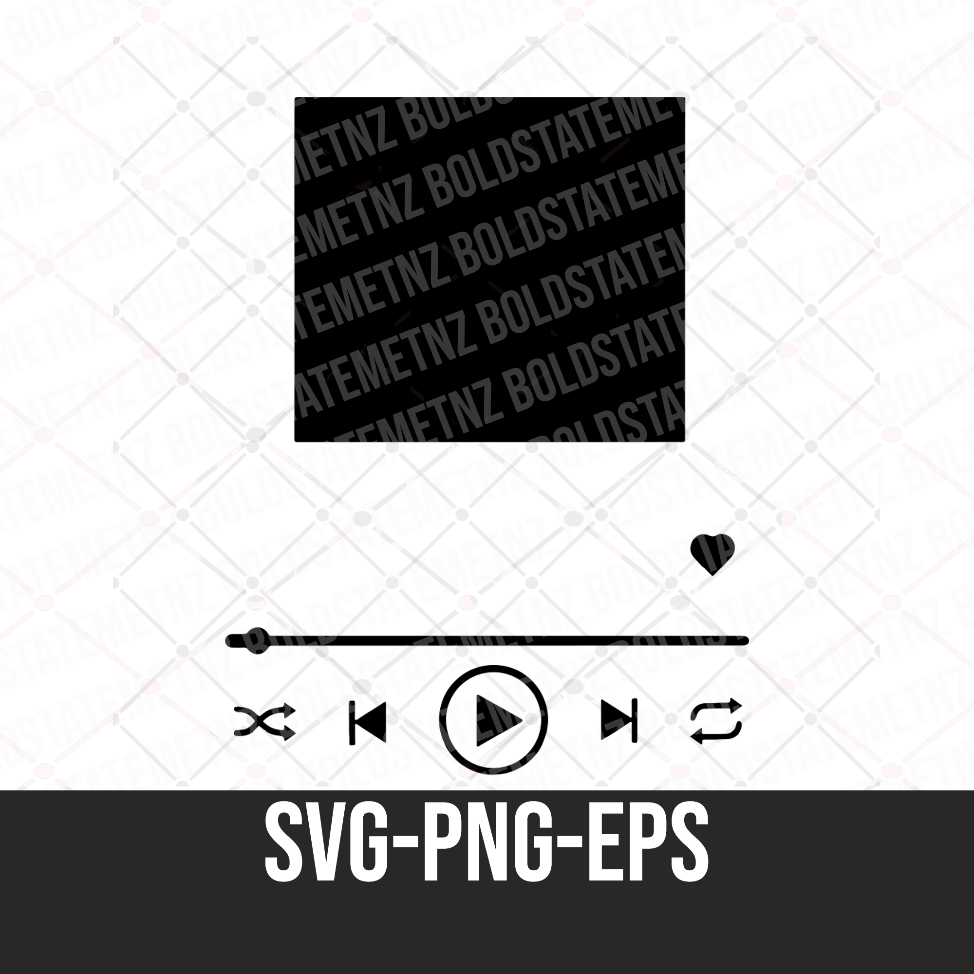 Music Player SVG | Audio Player SVG | Cricut Compatible | Custom Song Art | Track Display SVG