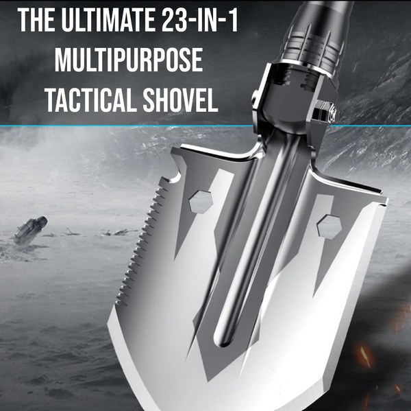 The Ultimate 23-in-1 Multipurpose Tactical Shovel