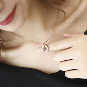 Love Projection Pendant Necklace